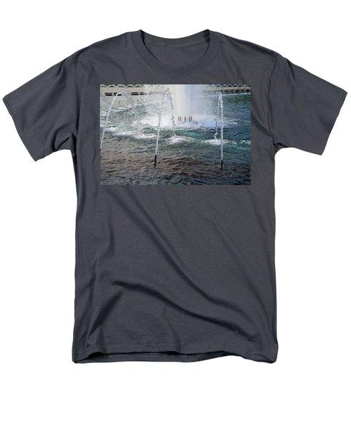 Men's T-Shirt  (Regular Fit) featuring the photograph A World War Fountain by Cora Wandel