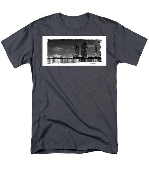 American Airlines Arena And Condominiums Men's T-Shirt  (Regular Fit) by Carsten Reisinger