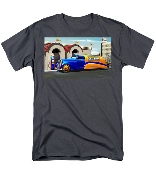 Art Deco Gas Truck Men's T-Shirt  (Regular Fit) by Stuart Swartz
