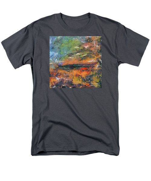 Men's T-Shirt  (Regular Fit) featuring the painting At Dawn by Dragica  Micki Fortuna