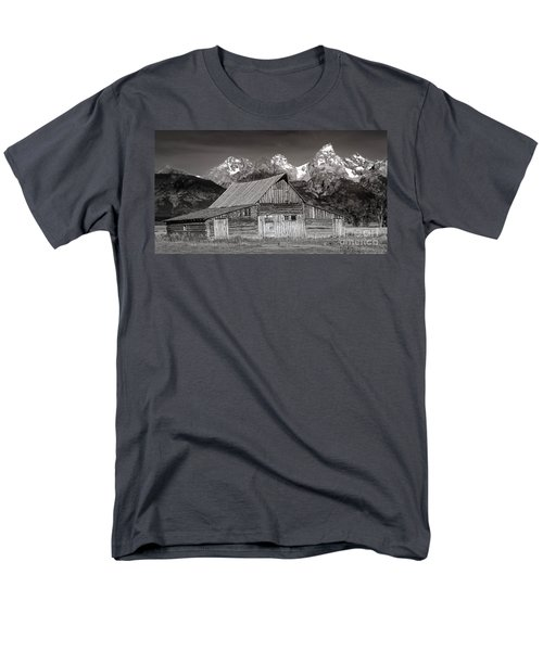 Barn And Tetons Men's T-Shirt  (Regular Fit) by Jerry Fornarotto