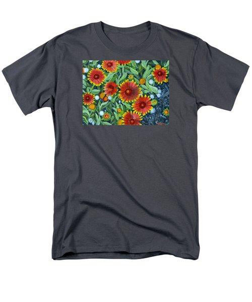 Blanket Flowers Men's T-Shirt  (Regular Fit) by Donna  Manaraze