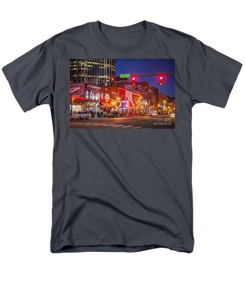Broadway Street Nashville Men's T-Shirt  (Regular Fit) by Brian Jannsen