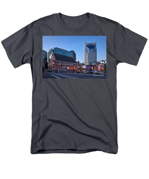 Downtown Nashville Men's T-Shirt  (Regular Fit) by Brian Jannsen
