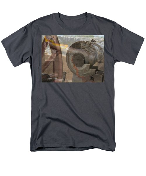 Men's T-Shirt  (Regular Fit) featuring the photograph Fire In The Hole by Ella Kaye Dickey