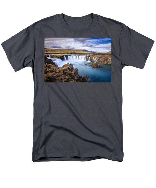 Godafoss Waterfall Men's T-Shirt  (Regular Fit) by Alexey Stiop