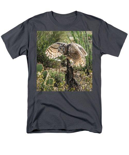 Great Horned Owl Men's T-Shirt  (Regular Fit) by Tam Ryan