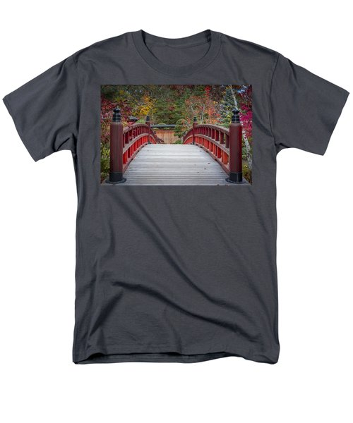 Men's T-Shirt  (Regular Fit) featuring the photograph Japanese Bridge by Sebastian Musial