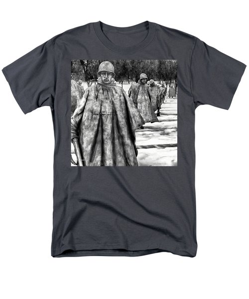 Korean War Memorial Washington Dc Men's T-Shirt  (Regular Fit) by Bob and Nadine Johnston