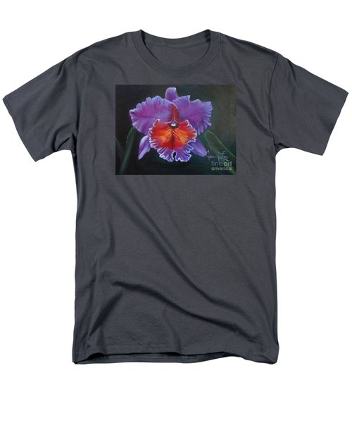 Men's T-Shirt  (Regular Fit) featuring the painting Lavender Orchid by Jenny Lee
