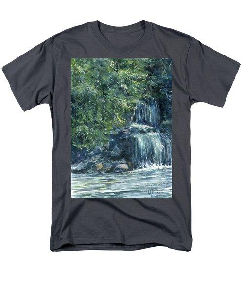 Oregon Waterfall Men's T-Shirt  (Regular Fit) by Lynne Wright