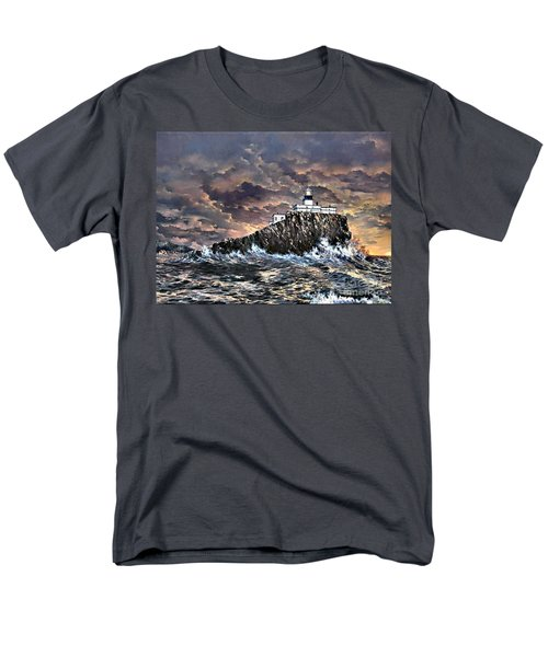 Men's T-Shirt  (Regular Fit) featuring the painting Tillamook Rock Light by Lynne Wright
