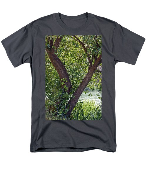 Men's T-Shirt  (Regular Fit) featuring the photograph Tree At Stow Lake by Kate Brown