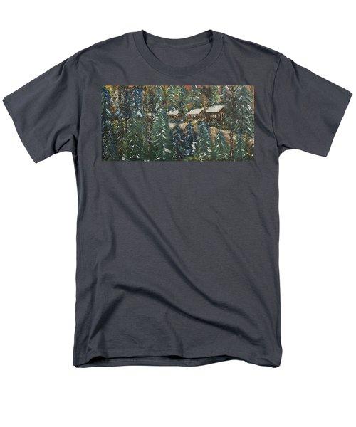 Winter Has Come To Door County. Men's T-Shirt  (Regular Fit) by Andrew J Andropolis