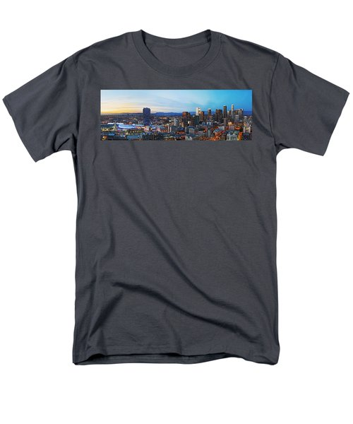 Los Angeles Skyline Men's T-Shirt  (Regular Fit) by Kelley King