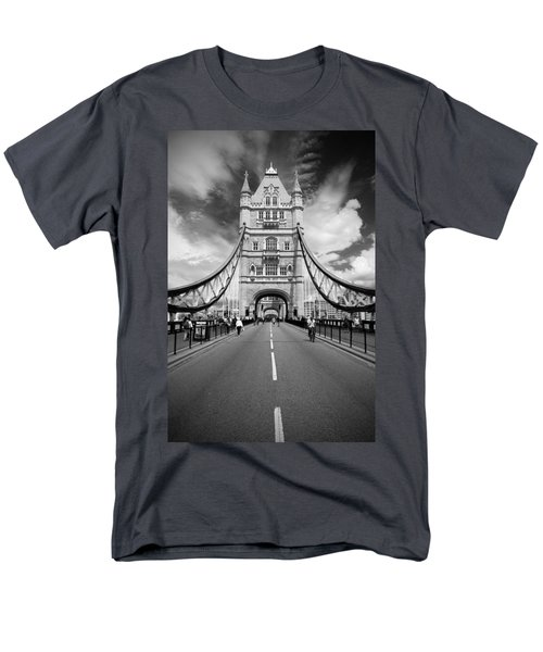 Men's T-Shirt  (Regular Fit) featuring the photograph Tower Bridge In London by Chevy Fleet