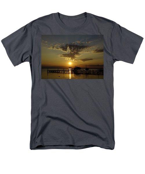 An Outer Banks Of North Carolina Sunset Men's T-Shirt  (Regular Fit) by Richard Rosenshein