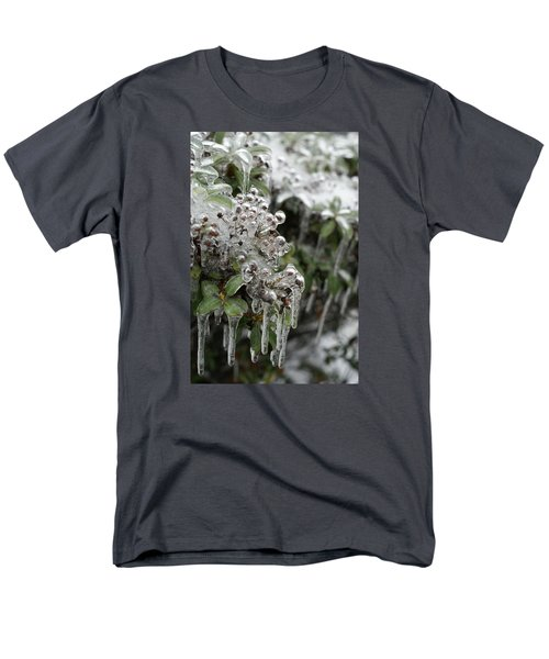 Men's T-Shirt  (Regular Fit) featuring the photograph Ice  by Heidi Poulin