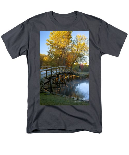 Old North Bridge Concord Men's T-Shirt  (Regular Fit) by Brian Jannsen