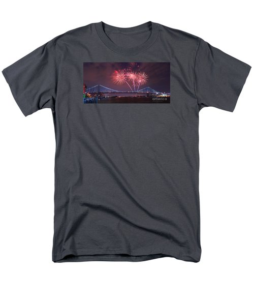 Men's T-Shirt  (Regular Fit) featuring the photograph 4 Th Of July Firework by Rima Biswas