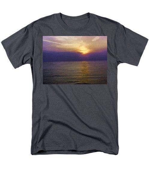 View Of Sunset Through Clouds Men's T-Shirt  (Regular Fit) by Ashish Agarwal