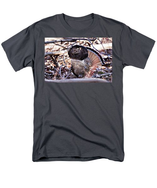 Ruffed Grouse Men's T-Shirt  (Regular Fit) by Ronald Lutz