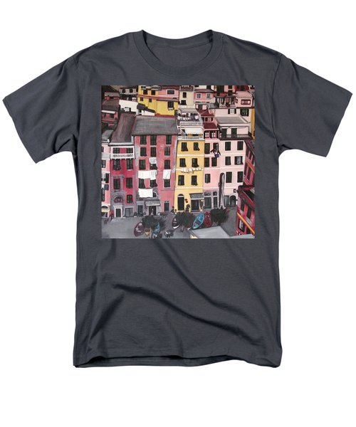 A Bird's Eye View Of Cinque Terre Men's T-Shirt  (Regular Fit) by Quin Sweetman