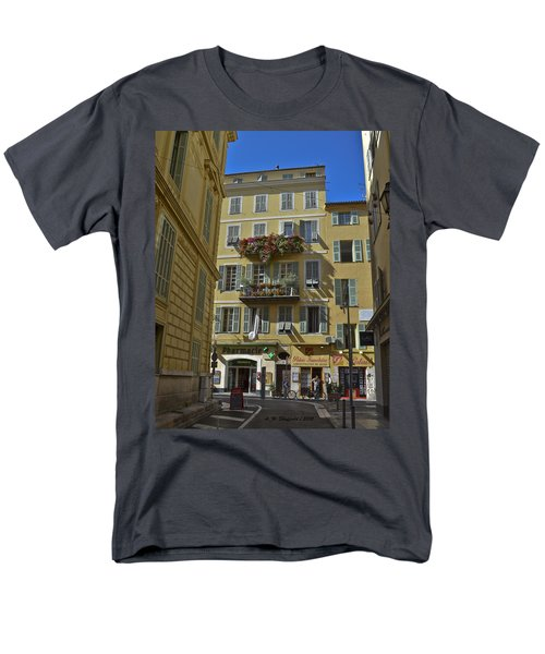 Men's T-Shirt  (Regular Fit) featuring the photograph A Corner In Nice by Allen Sheffield