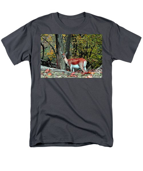 A Deer Look Men's T-Shirt  (Regular Fit) by Lydia Holly