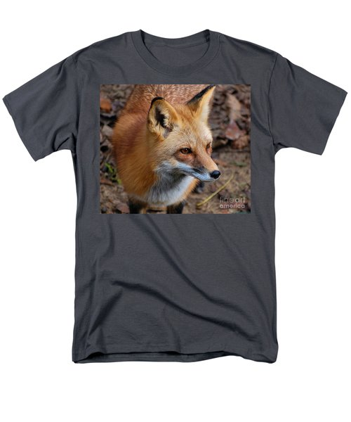 Men's T-Shirt  (Regular Fit) featuring the photograph A Little Red Fox by Kathy Baccari