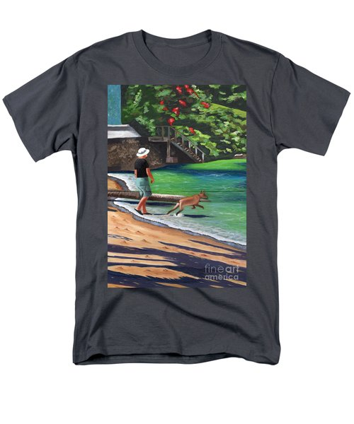 A Man And His Dog Men's T-Shirt  (Regular Fit) by Laura Forde