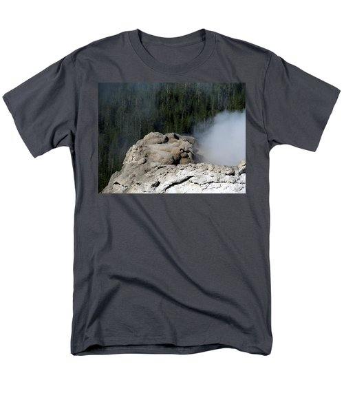A Smoking Man. Yellowstone Hot Springs Men's T-Shirt  (Regular Fit) by Ausra Huntington nee Paulauskaite