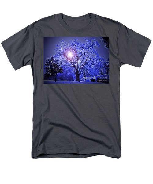 A Snow Glow Evening Men's T-Shirt  (Regular Fit) by Lydia Holly
