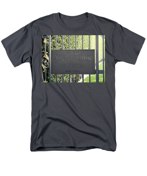 Abercrombie And Fitch Store In Paris France Men's T-Shirt  (Regular Fit) by Richard Rosenshein