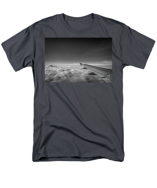 Above The Clouds Bw Men's T-Shirt  (Regular Fit)