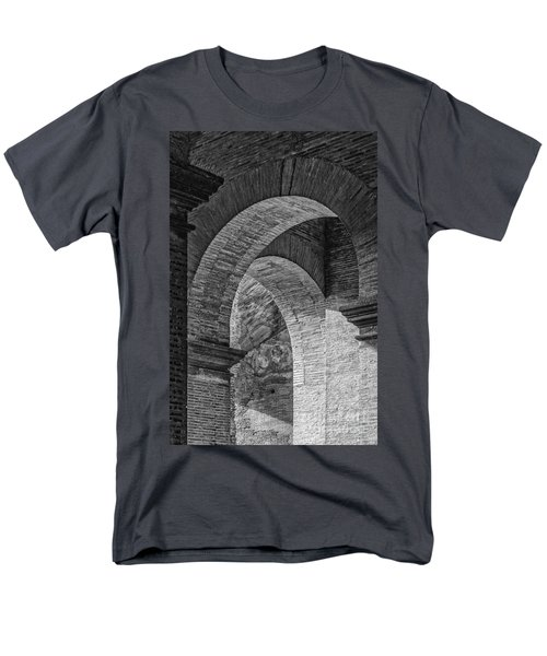Abstract Arches Colosseum Mono Men's T-Shirt  (Regular Fit) by Antony McAulay