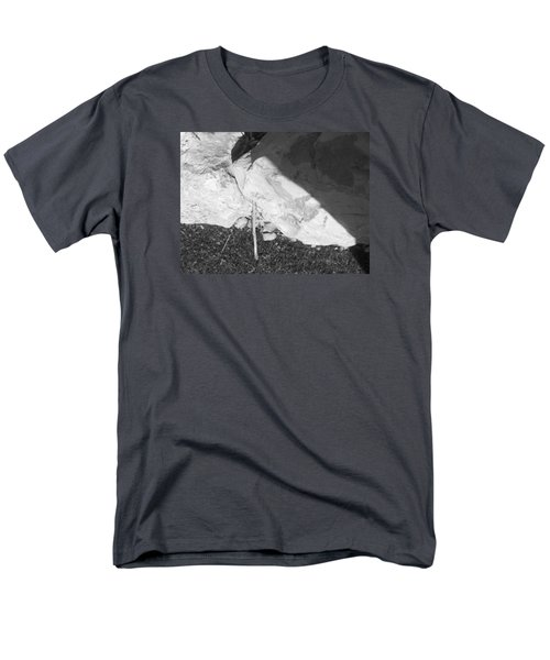 Men's T-Shirt  (Regular Fit) featuring the photograph Abstract Of Rock And Shadow by Esther Newman-Cohen