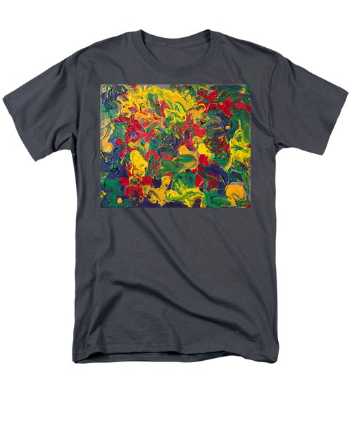 Abstract Painting - Color Explosion Men's T-Shirt  (Regular Fit) by Enzie Shahmiri