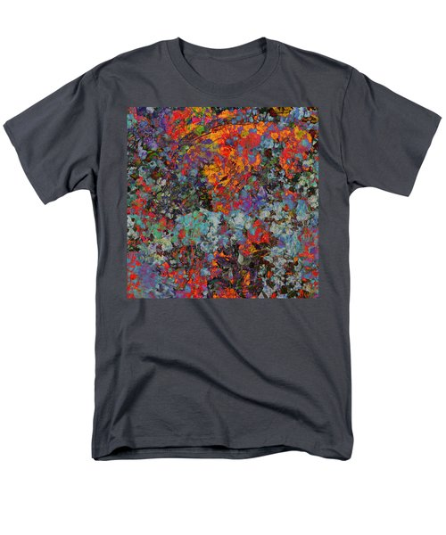 Men's T-Shirt  (Regular Fit) featuring the mixed media Abstract Spring by Ally  White