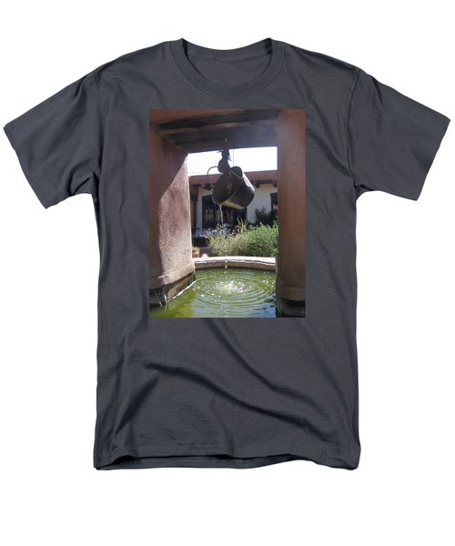 Men's T-Shirt  (Regular Fit) featuring the photograph Adobe Water Well In New Mexico by Dora Sofia Caputo Photographic Art and Design