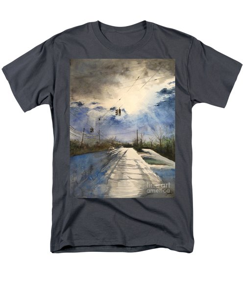 After Rain -on The Michigan Ave. Saline Michigan Men's T-Shirt  (Regular Fit) by Yoshiko Mishina