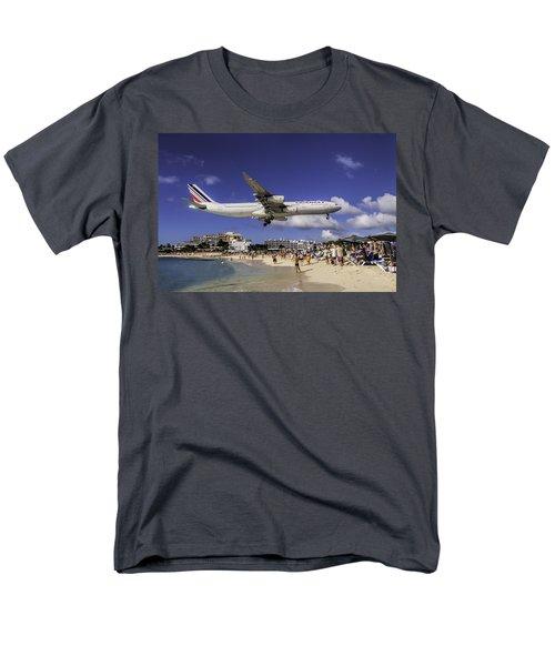 Air France St. Maarten Landing Men's T-Shirt  (Regular Fit) by David Gleeson