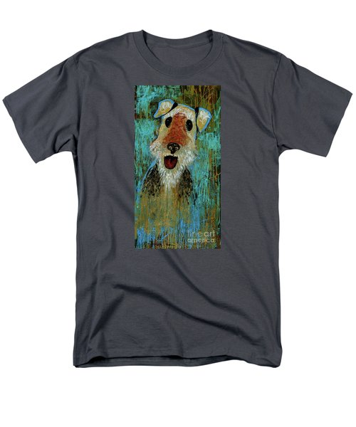 Airedale Terrier Men's T-Shirt  (Regular Fit) by Genevieve Esson