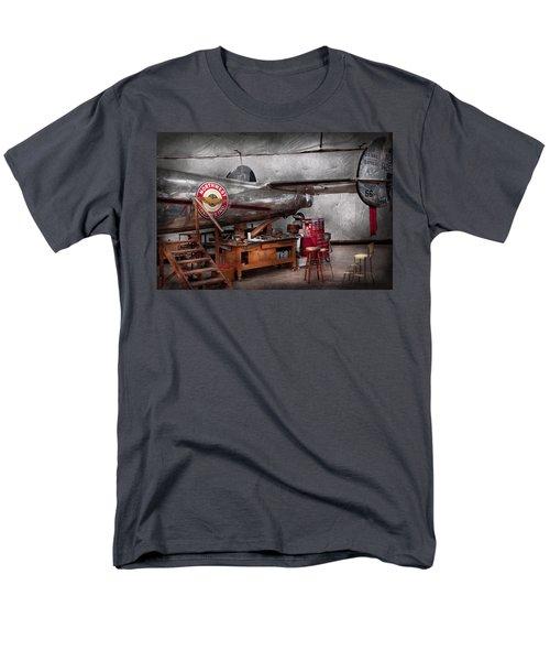 Airplane - The Repair Hanger  Men's T-Shirt  (Regular Fit) by Mike Savad