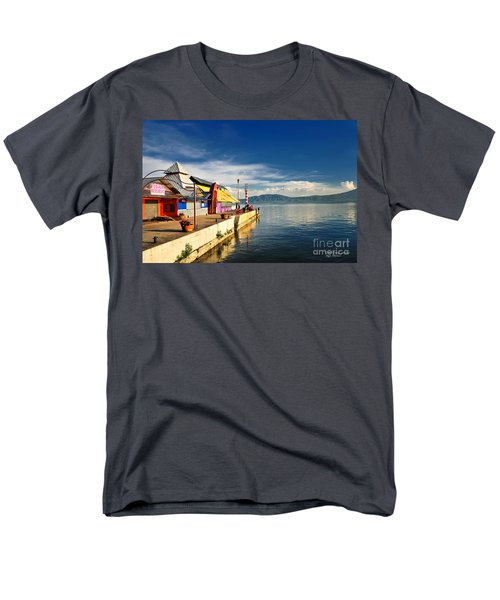 Ajijic Pier - Lake Chapala - Mexico Men's T-Shirt  (Regular Fit) by David Perry Lawrence