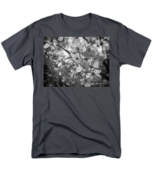 Men's T-Shirt  (Regular Fit) featuring the photograph Akebono In Monochrome by Peggy Hughes