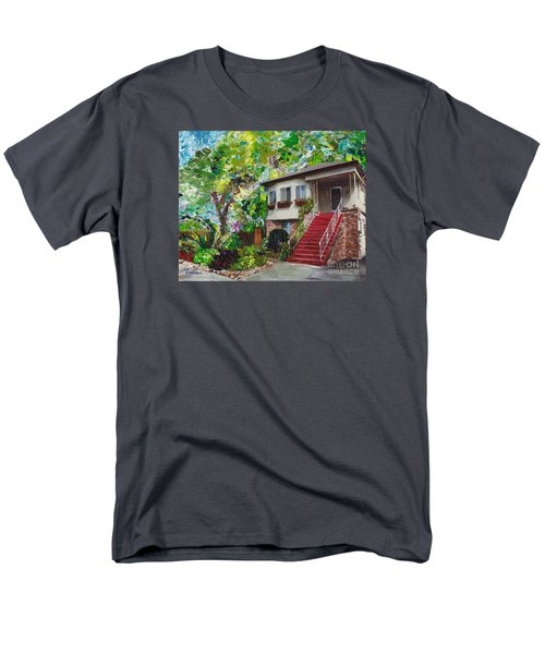 Men's T-Shirt  (Regular Fit) featuring the painting Alameda 1908 Duplex by Linda Weinstock