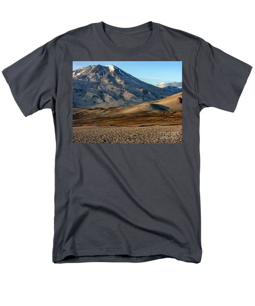 Men's T-Shirt  (Regular Fit) featuring the photograph Alaska Landscape Scenic Mountains Snow Sky Clouds by Paul Fearn