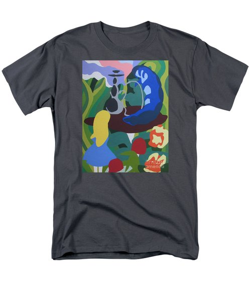 Men's T-Shirt  (Regular Fit) featuring the painting Alice And The Blue Caterpillar by Meagan  Visser