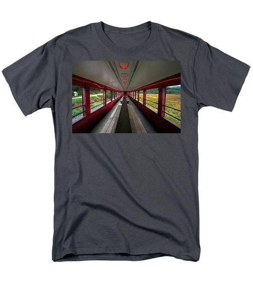 Men's T-Shirt  (Regular Fit) featuring the photograph All Aboard Tioga Central Railroad by Suzanne Stout